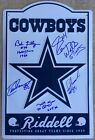 AUTOGRAPHED Dallas Cowboys 11.5x17.5 Metal Cowboy Star Sign Signed IN PERSON x5