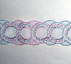 Vintage Lace Trim Lot 38-4 Venise Organza Cream White Grey Pink Blue Ivory 83x