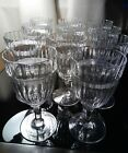 Set of 11 MINT Heisey Glass No150 Banded Flute Water Goblets 1907 1937