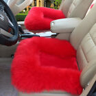 Us Stock Fashion Soft Warm Car Seat Covers Winter Long Fuzzy Wool Chair Cushion