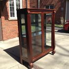 vintage antique empire mahogany china display curio cabinet