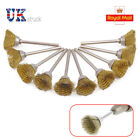 10Pcs Brass Wire Wheel Brushes For 16mm Dremel Rotary Tool Accessories New UK
