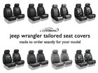 Coverking Tailored Front Seat Covers for 2018 Jeep Wrangler JK Made to Order