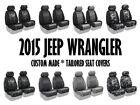 Coverking Tailored Front Seat Covers for 2015 Jeep Wrangler JK Made to Order