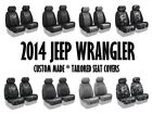 Coverking Tailored Front Seat Covers for 2014 Jeep Wrangler JK Made to Order