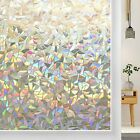 Rabbitgoo Stained Glass Window Film Static Cling Privacy Window Film for Office