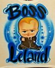 Custom Airbrushed Boss Baby Shirt w Name Sizes 6 months Adult 5XL
