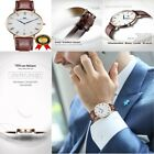 NEW Swiss Watch For Men Slim Automatic Leather Band On Sale Movement Battery Blu