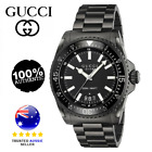 ** Gucci Dive XL Black Stainless Steel Mens Watch RRP $2,499 YA136205 **