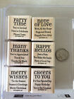 Stampin Up Lots of Thoughts 6 Stamps Xmas Party Time Thanks   s4