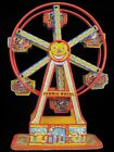 ANTIQUE 1930S J CHEIN CIRCUS HERCULES FERRIS WHEEL TIN LITHO WIND UP TOY WORKS