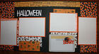 Halloween 12 x 12 premade scrapbook layout handmade 3D photo ready double page