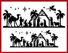 Christmas Nativity Border Die Cut Embellishment Card Topper Paper Crafts