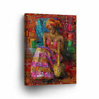 African American Native Women Canvas Oil Painting Print Wall Art Home Room Decor