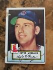 1952 Topps Clyde Vollmer #255 Low Grade paper loss Free USPS Red Sox
