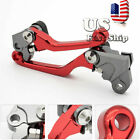 USA For HONDA CRF150F CRF230F 2003-2017 Red Pivot Brake Clutch Levers Motorcross