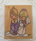 Precious Moments Bride Groom Rubber Stamp Stampendous Bless  Keep You Wedding