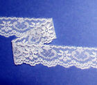 Vintage Lace Trim Lots 12 - 5 Ruffle Cotton White Red Ivory Blue Green 85x