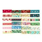 NEW Mix 12 designs Decor Paper Japanese Washi Tape Sheet Flowers Set for Planner
