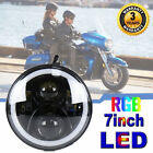 CREE 7 RGB Headlight LED w Angel eye For Yamaha Royal Star Venture XVZ1300
