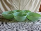Fire king Jadite cereal size bowl's set of 5  mint cond.