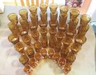 Vintage 48 Piece Amber Glassware Set - 1950s Park Lane by Colony