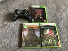 Xbox 360 Controller And Games Lot (ghostbusters, Too Human, Darkness 2)