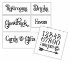 Wedding Stencil Words For Your Guests Elegant Traditional 6pc Small Set