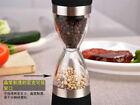 Hourglass Shape Dual Salt Pepper Mill Spice Grinder Kitchen Cooking Tools US FS