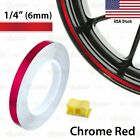 1 4 6mm PIN STRIPE Striping Wheel Rim TAPE Decal Vinyl Sticker CHROME RED US