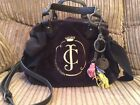 Juicy Couture Black Velour Bag Coloured Tassel Bag Charm