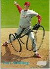 1998 Topps Stadium CURT SCHILLING Signed Card autograph PHILLIES RED SOX
