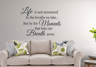 Family Wall Decal Life is not Measured Living Room Decal Family Tree Decal