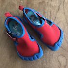 SPEEDO water swim beach pool shoes Size 6 7 med Toddler Red Blue Closed Toe