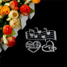 Music Heart Embossing Cutting Dies for Scrapbooking Decor Craft Card Making PR