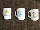 3 Vintage Fire King Snoopy Mugs