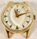 Vintage Zenith Automatic 18k 750 Solid Yellow Gold 18 Jewels Cal. 120 Watch