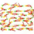 Vintage Christmas Plastic Blow Mold Candy Garland 15 Feet Candy Cane Multicolor