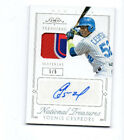 2015 Panini National Treasures Yoenis Cespedes Mets Red Sox A's laundry tag auto