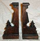 2 Antique Architectural Salvage Wooden Oak Ornate Victorian Corbel s