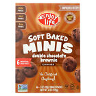 Enjoy Life Soft Baked Minis - Double Chocolate Brownie - Case of 6 - 6 oz.