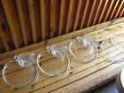 VINTAGE GLASS APPLE DINNER/LUNCH PLATES WITH CUP HOLDER