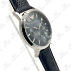 New In Box Emporio Armani AR2473 Classic Blue Breathable Leather Men's Watch