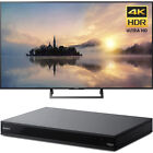 """Sony 55"""" Class (54.6"""" diag) 4K HDR Ultra HD TV + Blu-Ray Player with Hi Res"""