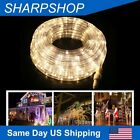 20 30 40 50FT LED Christmas Light Rope Strip landscape Lights 8 Mode Warm White
