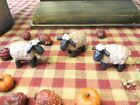 Primitive* Tiny* Blossom Bucket* Folk Art Sheep* Shelf Sitters* Ornies*  set/3