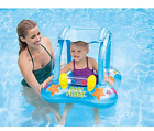 Pool Baby Float Water Toy With Sun Shade Little Cute Raft All Day Fun At Beach
