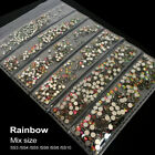 Rainbow SS3-SS10 mix size 1728PCS Decorations Stone for Nail Art rhinestone