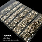 Multi-size Manicure 3D Crystal Clear Nail Art Rhinestone Flat Bottom Decoration