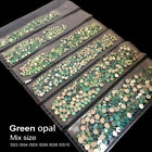 Green opal color Nail Art Rhinestone Flat Bottom Multi-size Manicure 3D Decor